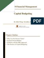 Fina Capital Budgeting