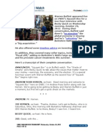 Warren Buffett Squawk Box Transcript, October 24, 2012