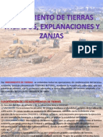 Movimiento de Tierras y Excavacion en Zanjas