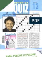 Domenica Quiz N.13 29 Marzo 2012