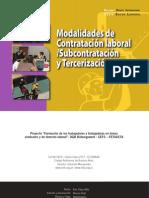 Modalidades de Contratacion Laboral Subcontratacion y Tercerizacion