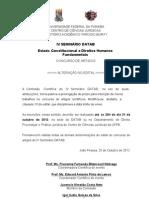 ALTERAÇÃO NO EDITAL DE INSCRIÇÃO PARA CONCURSO DE ARTIGOS DO IV SEMINÁRIO DATAB