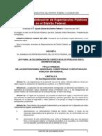 Ley para la Celebración de Espectáculos Públicos en el D.F.