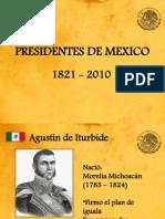 Presidentes de Mexico