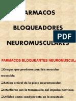 FARMACOS BLOQUEADORES NEUROMOSCULARES