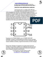Manual de Reseteo Para Impresoras Samsung