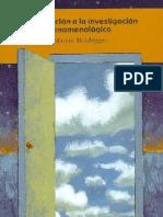 Martin Heidegger. Trad. Juán José García Norro. Martin Heidegger - Introducción a la Investigación Fenomenológica Gesamtausgabe. II. Abteilung Vorlesungen. Bd.17  2008