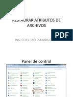 Restaurar Atributos de Archivos