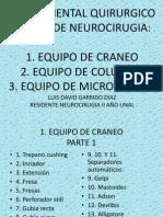 Instrumental Quirurgico de Neurocirugia