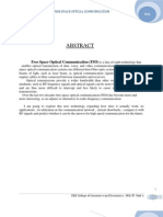 Free Space Optical Communication - Casestudy