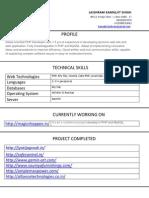 laishram kamaljit singh php developer resume