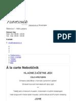 À la carte Nebotičnik | Neboticnik.si