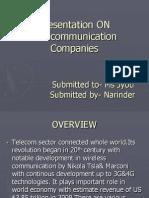Presentation of Business Communication on Four Major Telecommunication