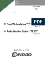 Funk Wetterstation TE857 de En