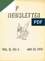 WASP Newsletter ~ 05/20/45