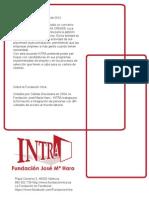 Acuerdo de la Fundación INTRA con Altedia Creade