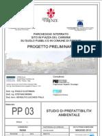 Piazza del Carmine Studio Prefattibilita Ambientale parcheggio sotterraneo