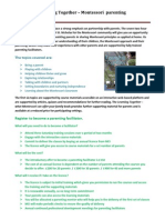 Parenting Flyer for Montessori Schools and Practitioners