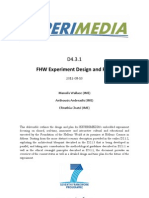 D4.3.1 FHW Experiment Design and Plan v1.0