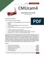 CMUcam4 Command List 102