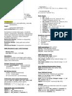 סיכום תמציתי של פקודות ותחביר ב-VHDL