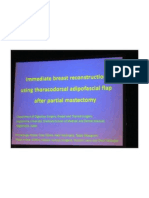 Immediate Breast Reconstruction Using Thoracodorsal Adipofascial Flap After Partial Mastectomy