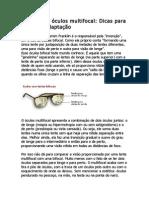 Tudo sobre óculos multifocal