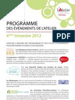 Programme de l'Atelier - 4e trimestre 2012