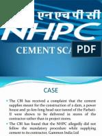 Nhpc Cement Scam