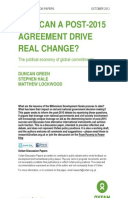 How Can a Post-2015 Agreement Drive Real Change? Revised Edition: The political economy of global commitments