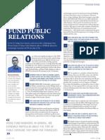 US Hedge Fund Public Relations Focus 2012