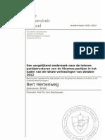 Een vergelijkend onderzoek naar interne partijstructuren van Vlaamse partijen in het kader van de lokale verkiezingen van oktober 2012