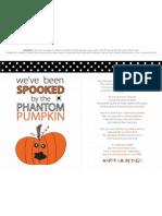Phantom Pumpkin Printables - Halloween 2012