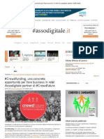 #Crowdfunding, una concreta opportunità per fare business in rete! Assodigitale partner di #Crowdfuture _ Assodigitale