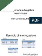 Informatica Modulo Algebra Relazionale