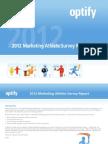 Optify 2012 b2b Marketing Athlete Report