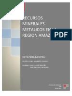 Recursos Minerales de La Region Amazonas