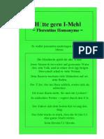 Hätte gern I-Mehl = Florentins Homonyme =, von F. Smarandache, Ins Deutsche buxiert von Bernd Hutschenreuther