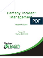 Incident MgmtRemedyTrainingStudentGuide