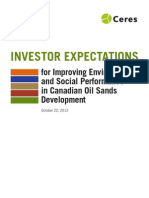 Canadian Oil Sands - Investor Expectations for Improving Environmental Social Performance