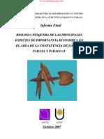 Biologia Pesquera de Las Principales Especies de Importancia Economica en El Area de La Confluencia de Los Rios Parana y Paraguay - PortalGuarani