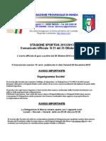Comunicato 11 Monza