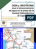Geología y Geotecnia Para Evaluar El Almacenamiento de Agua en La Central Hidroeléctrica El Cajón