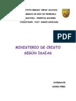 Ttrabajo de Ministerio de Cristo Segun Isaias
