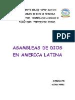 Trabajo de Las Asambleas de Dios en America Latina