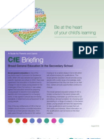 CfE Briefing Broad General Education in Secondary School