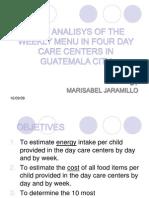 Menus en Centros de Desarrollo Infantil