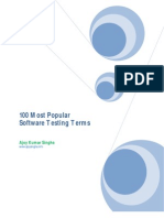 100 Most Popular Software Testing Terms
