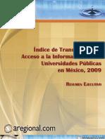 2009. Índice Transparencia y Acceso información UPES