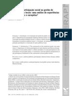 O princípio da participação social na gestão de políticas públicas